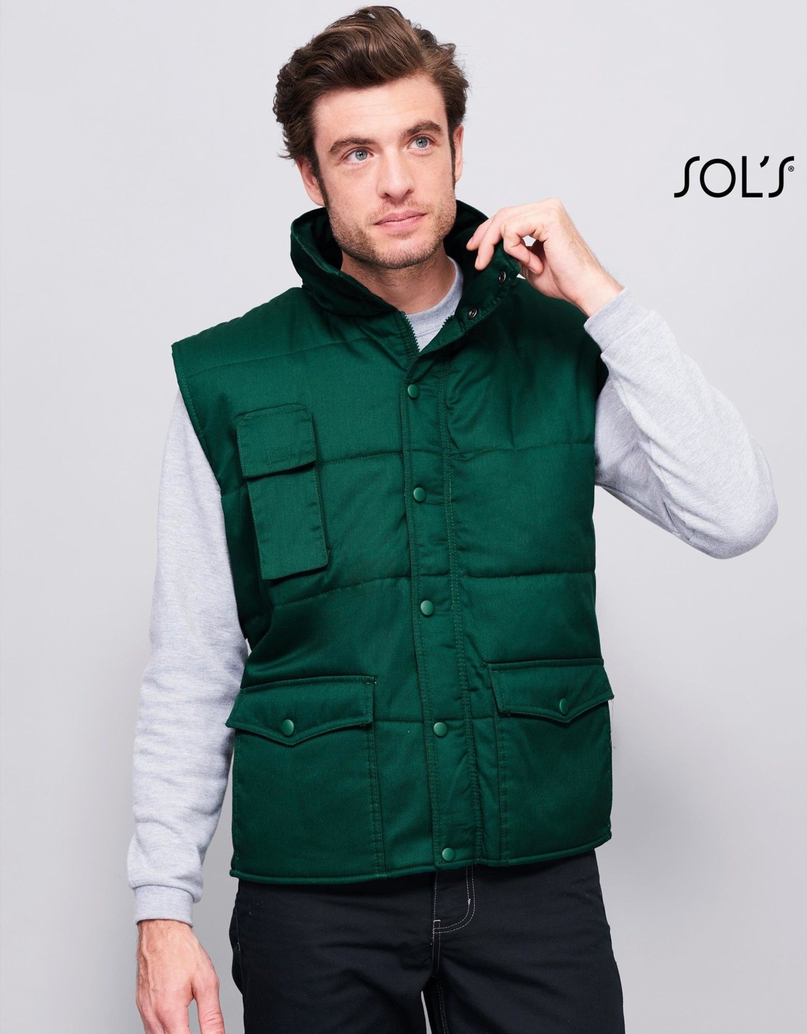 Sol's BODYWARMER 'Equinox' workwear navy