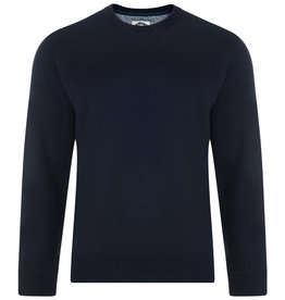 Kam Jeans Basic set-in SWEATER navy