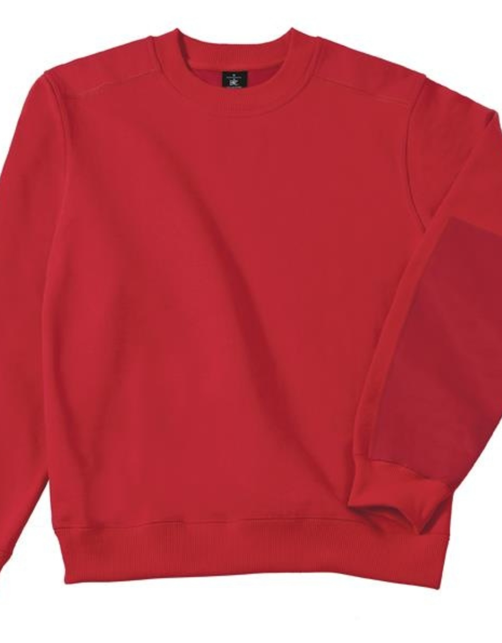 B&C Workwear set-in SWEATER rood