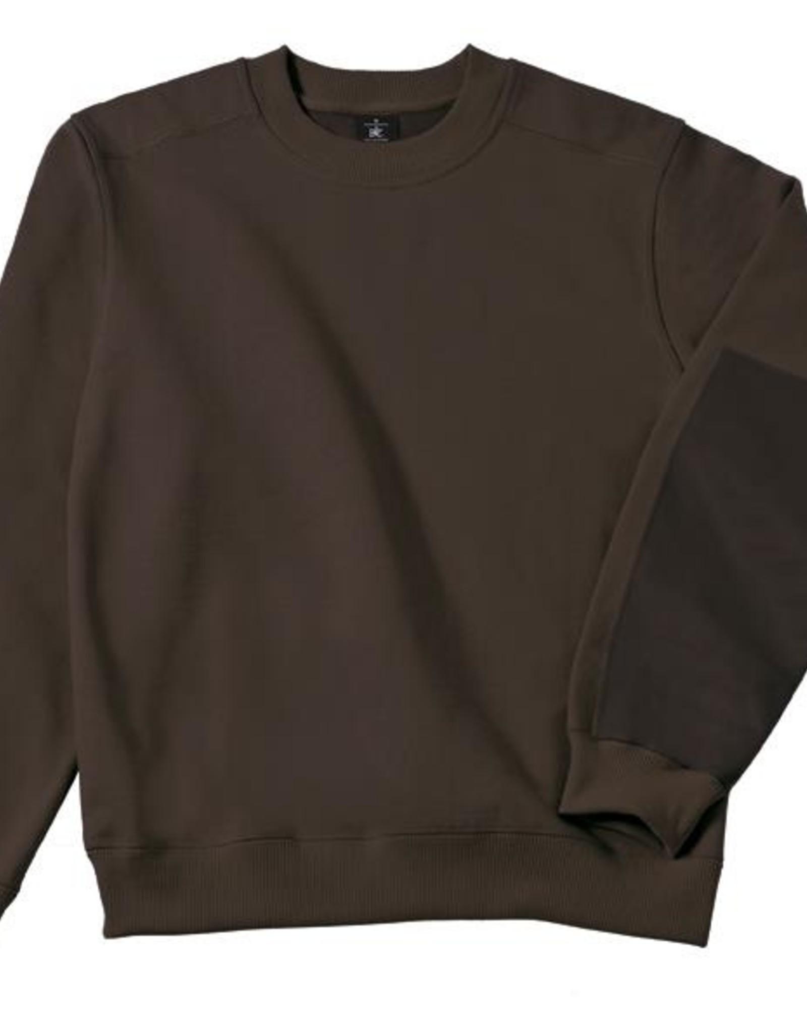 B&C Workwear set-in SWEATER bruin