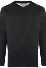 Kam Jeans Gebreide PULLOVER met V-hals zwart