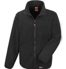 Result Workwear micro FLEECE JACKET zwart