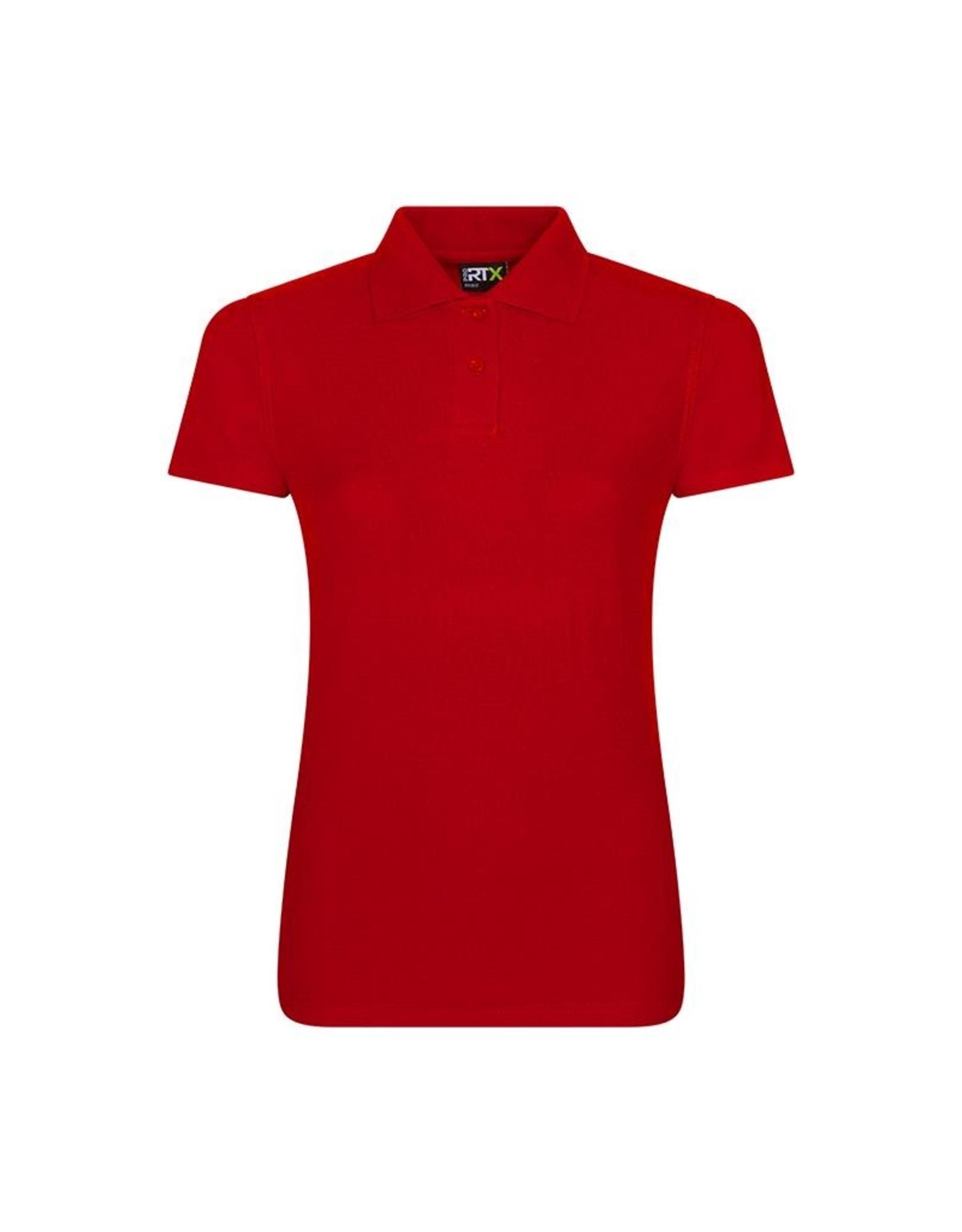 Pro RTX Dames POLOSHIRT piqué workwear rood