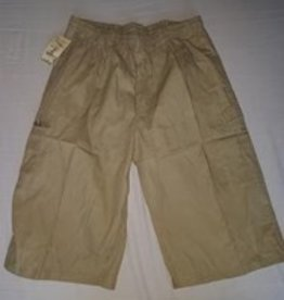 Little KHAKI HEREN SHORT knielang zand