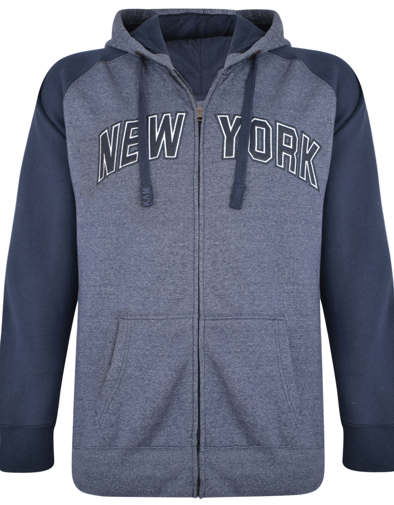 Kam Jeans SWEATVEST met borduring 'New York' denim
