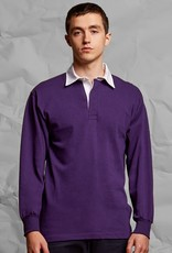 Front Row Collection RUGBY / POLOSWEATER heren - zwart / wit