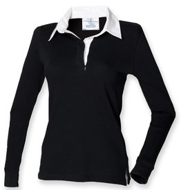 Front Row Collection RUGBY / POLOSWEATER dames - zwart / wit