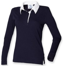 Front Row Collection RUGBY / POLOSWEATER dames - navy / wit