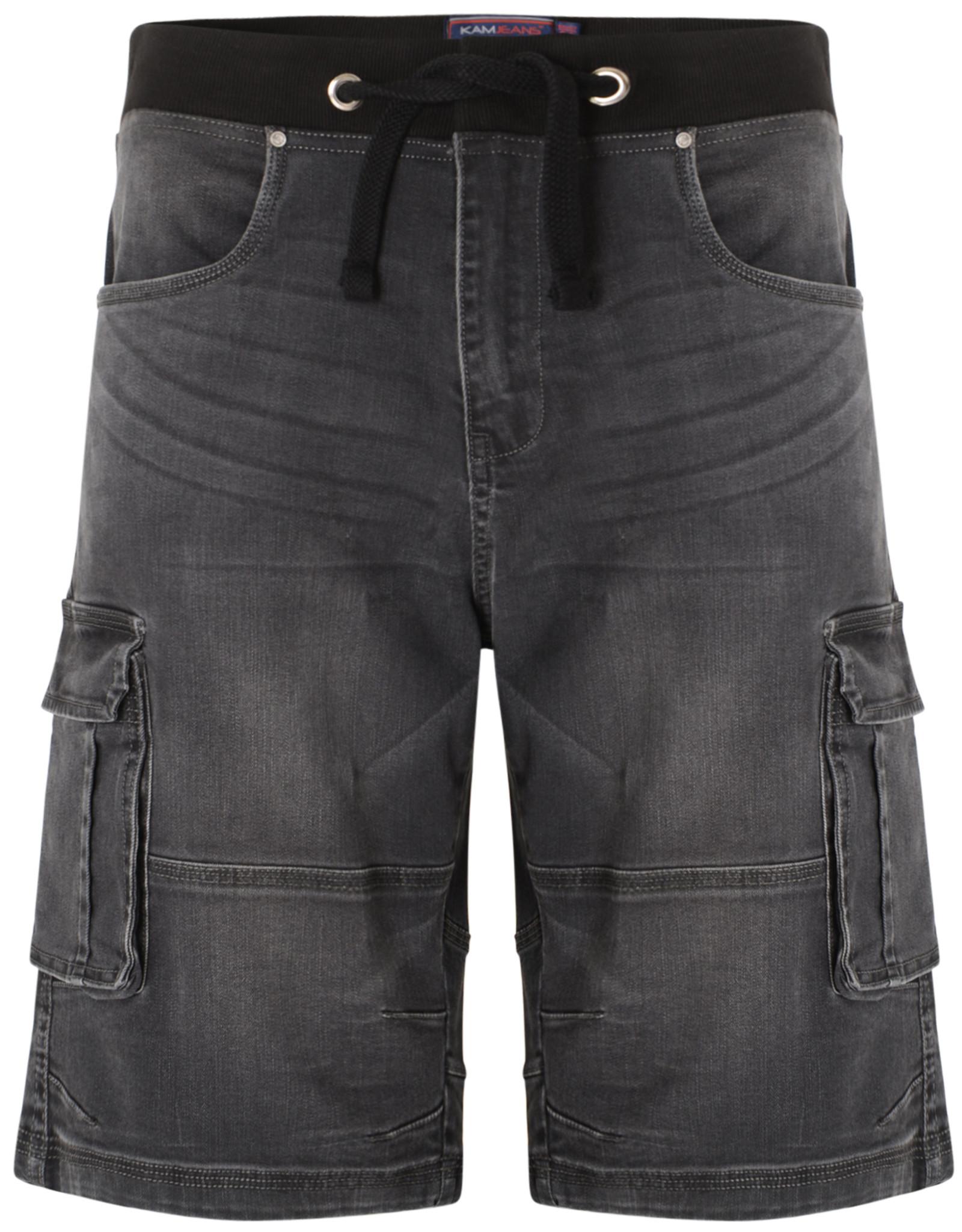 Kam Jeans Denim stretch SHORT - antraciet