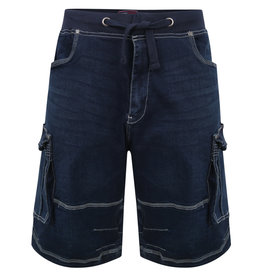 Kam Jeans Denim stretch SHORT - donkerblauw
