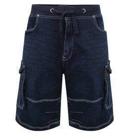 Kam Jeans Denim stretch SHORT - donkerblauw