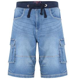 Kam Jeans Denim stretch SHORT - lichtblauw