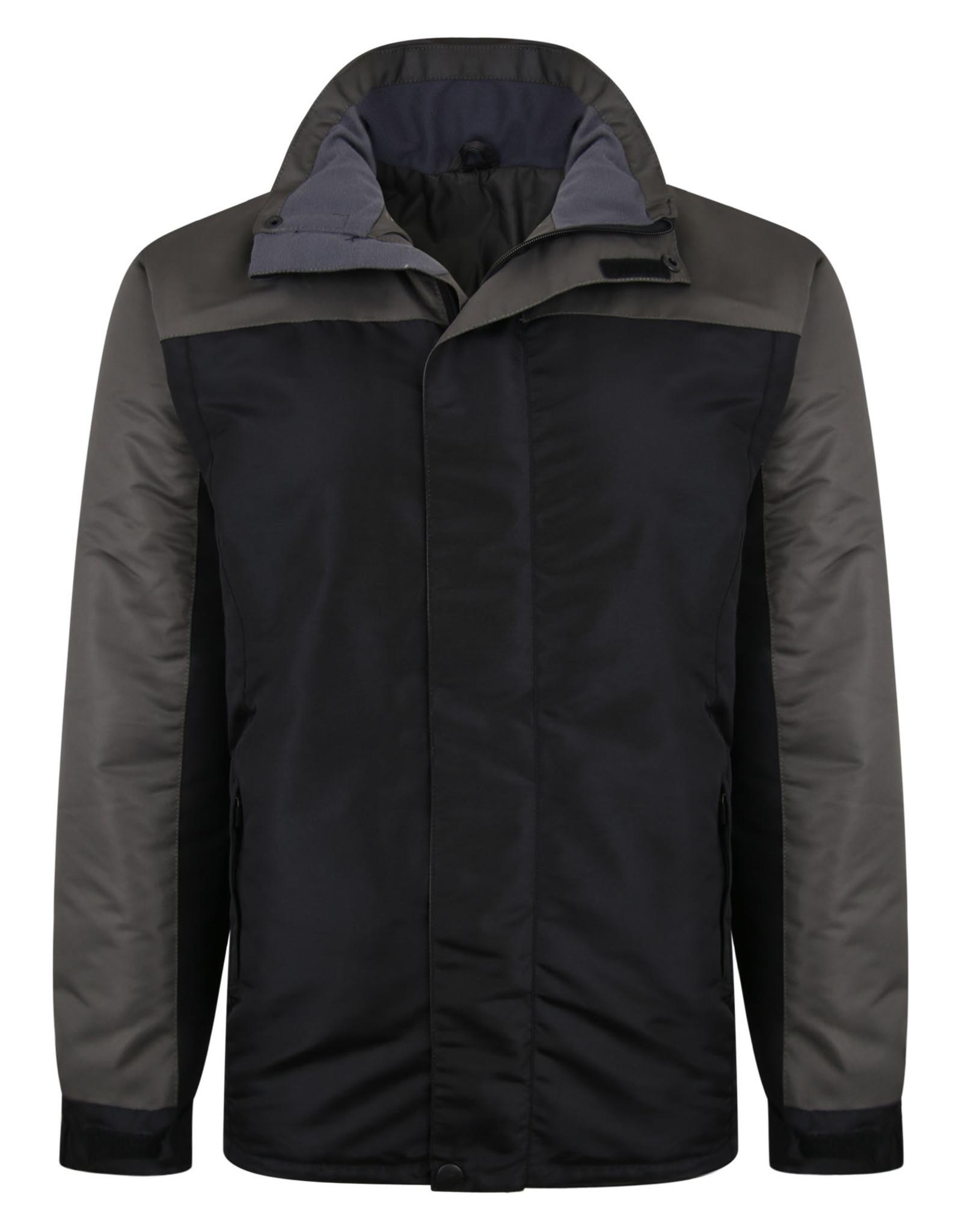 Kam Jeans Gevoerd waterdicht WINTER JACK - zwart/grijs