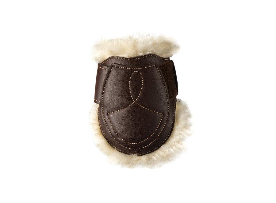 Strijklap leder wol/ bont