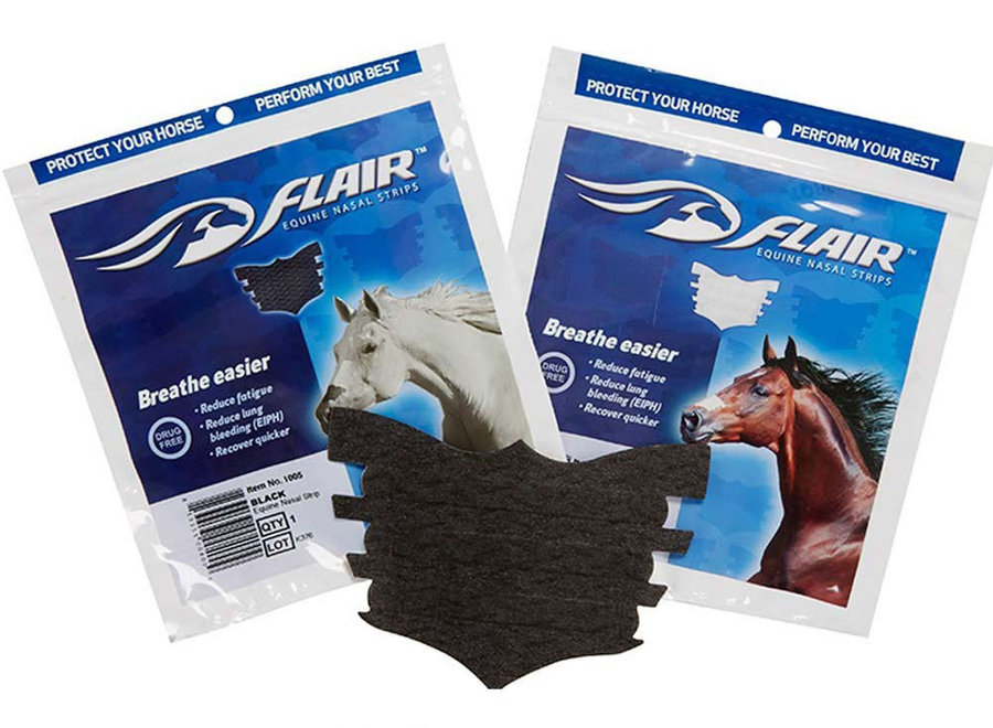 Equine nasal strips 6 pack-Black