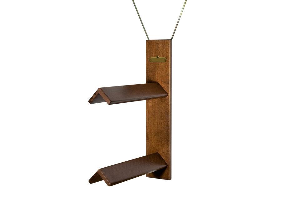 Luxe houten zadelhouder