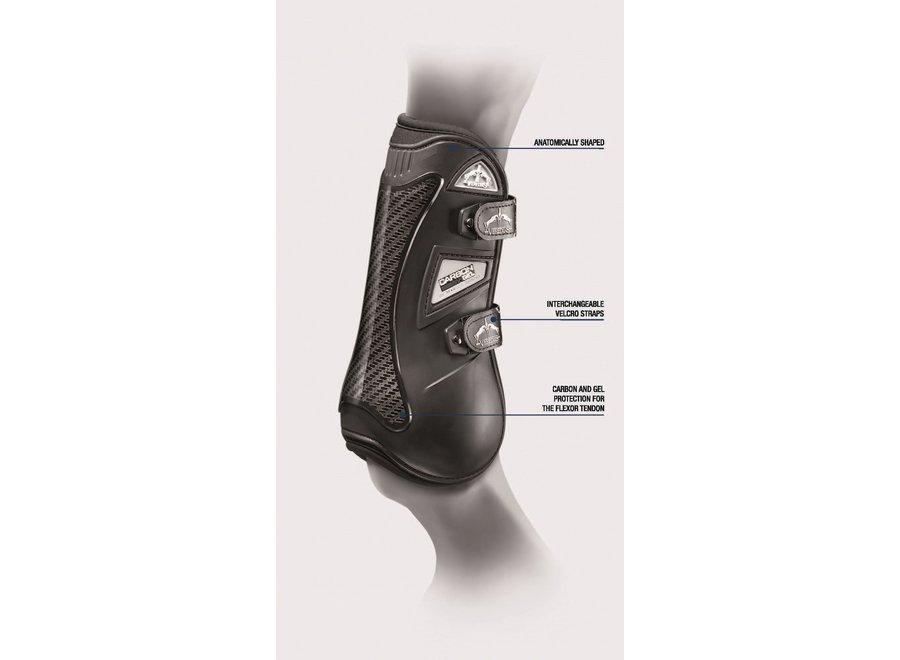 Peesbeschermer Carbon Gel Velcro Straps