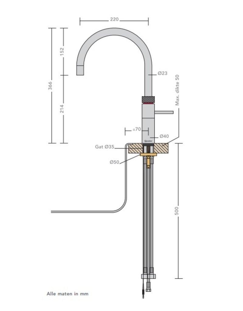 Quooker Quooker Fusion Round RVS met Combi+ 2.2 reservoir
