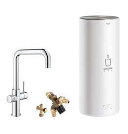 Grohe Grohe Red Duo Haaks Chroom met L-size boiler (30144001)