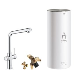 Grohe Grohe Red Duo Recht Chroom met L-size boiler (30324001)