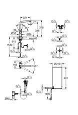 Grohe Grohe Red Duo Recht Supersteel met L-size boiler (30324DC1)