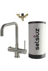 Selsiuz Selsiuz Haaks Inox (RVS) met Combi Extra (Combi+) boiler