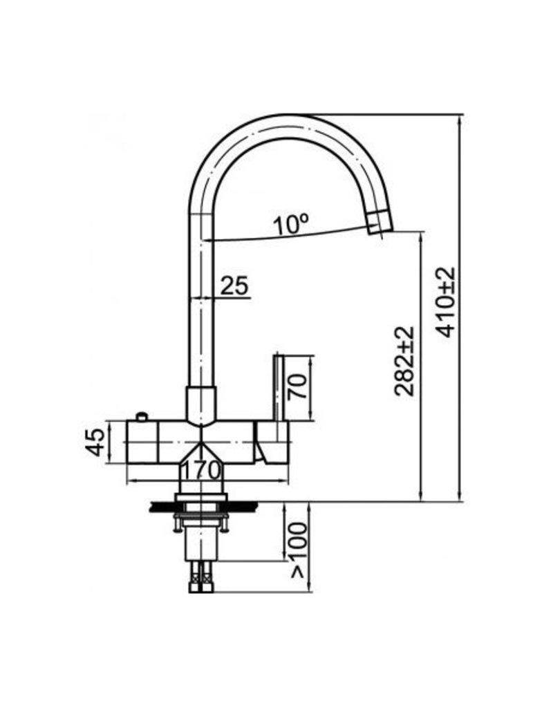 Selsiuz Selsiuz Rond RVS (Inox) met Combi (Extra) boiler