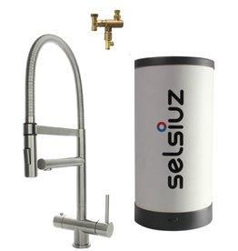 Selsiuz Selsiuz XL Inox (RVS) met Combi boiler