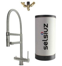 Selsiuz Selsiuz XL Inox (RVS) met Combi Extra (Combi+) boiler