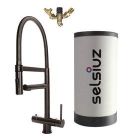 Selsiuz Selsiuz XL Gun Metal Zwart met Combi Extra (Combi+) boiler