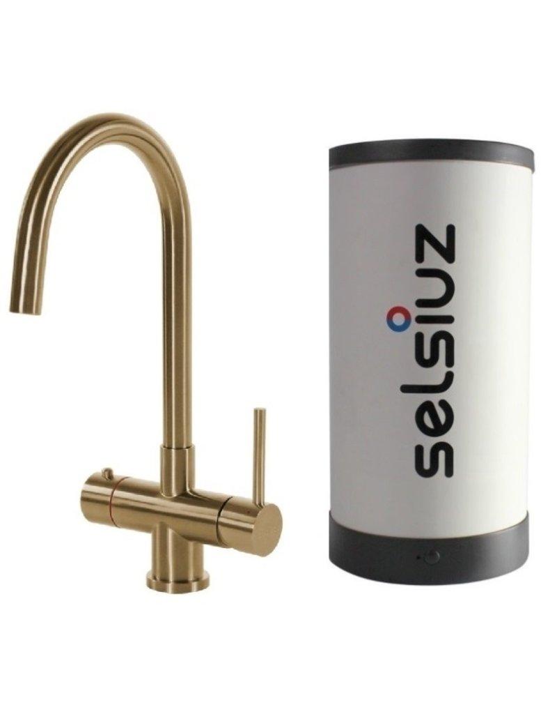 Selsiuz Selsiuz Rond Gold / Goud met Single boiler