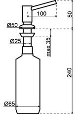 Dornbracht Tara zeepdispenser  Platina mat (82.435.970.06)