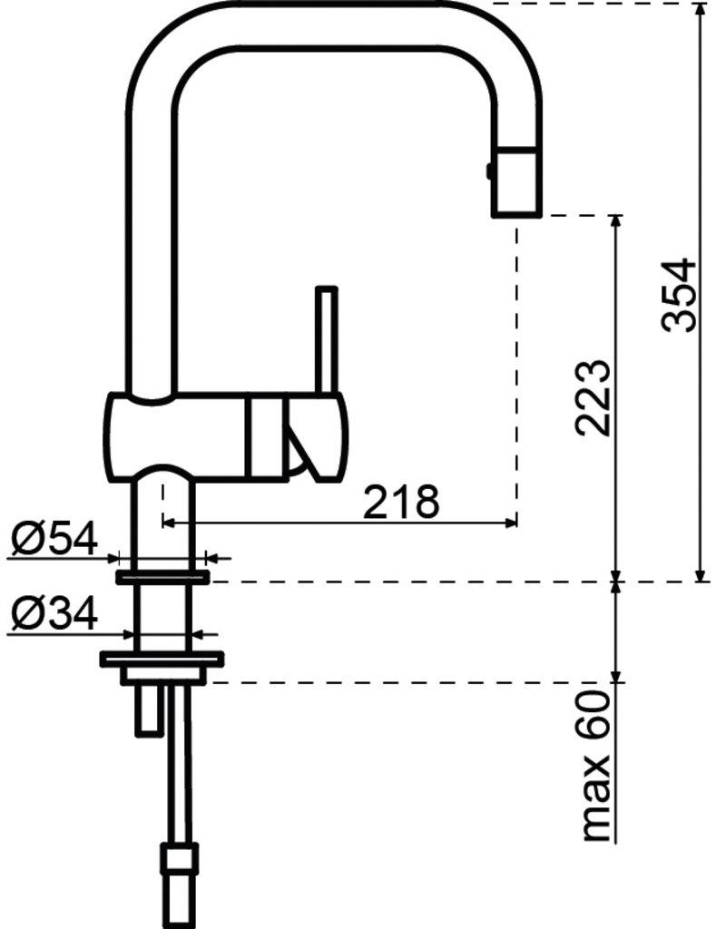 Grohe Grohe Minta U-uitloop Eenhendelkeukenmengkraan SuperSteel (32322DC0)