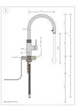 Quooker Quooker CUBE met FLEX RVS en PRO3-VAQ reservoir