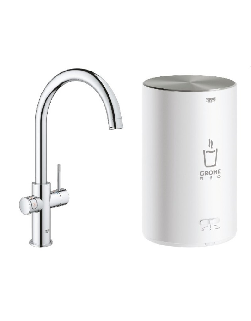 Grohe Grohe Red Duo Rond Chroom met M-size boiler (30374001)
