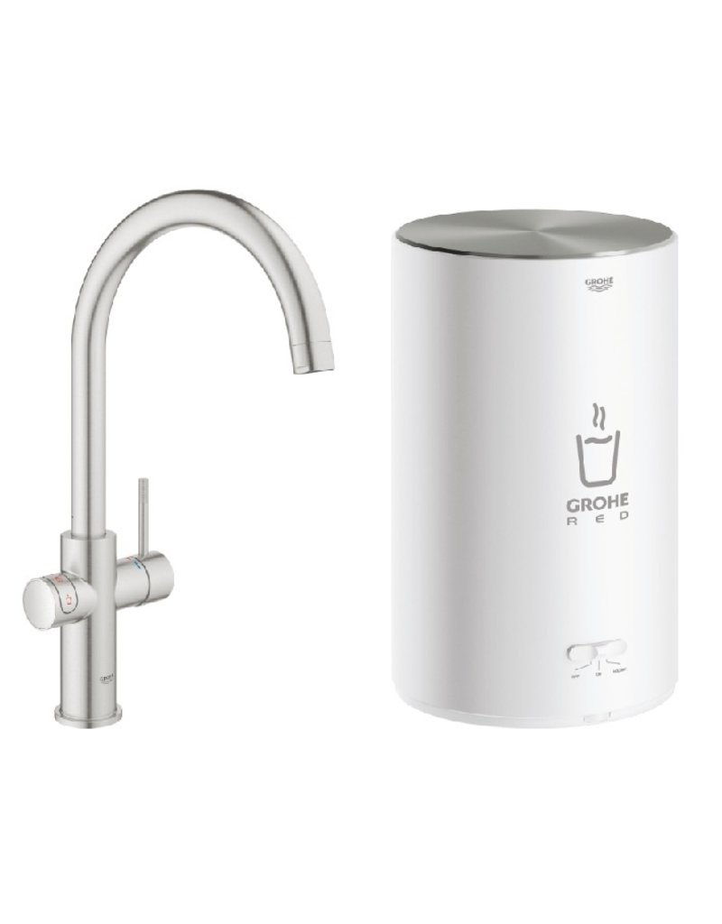 Grohe Grohe Red Duo Rond Supersteel met M-size boiler (30374DC1)