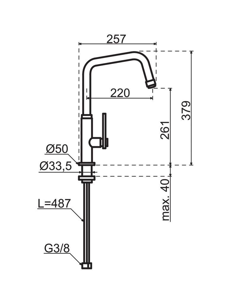 Gessi Mechanical Gun Metal Zwart