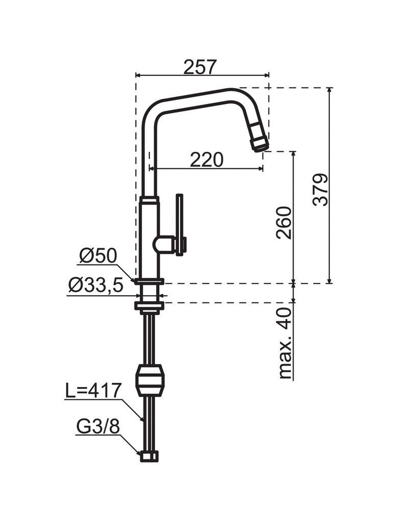 Gessi Gessi Mechanical Copper / Koper met uittrekbare perlator