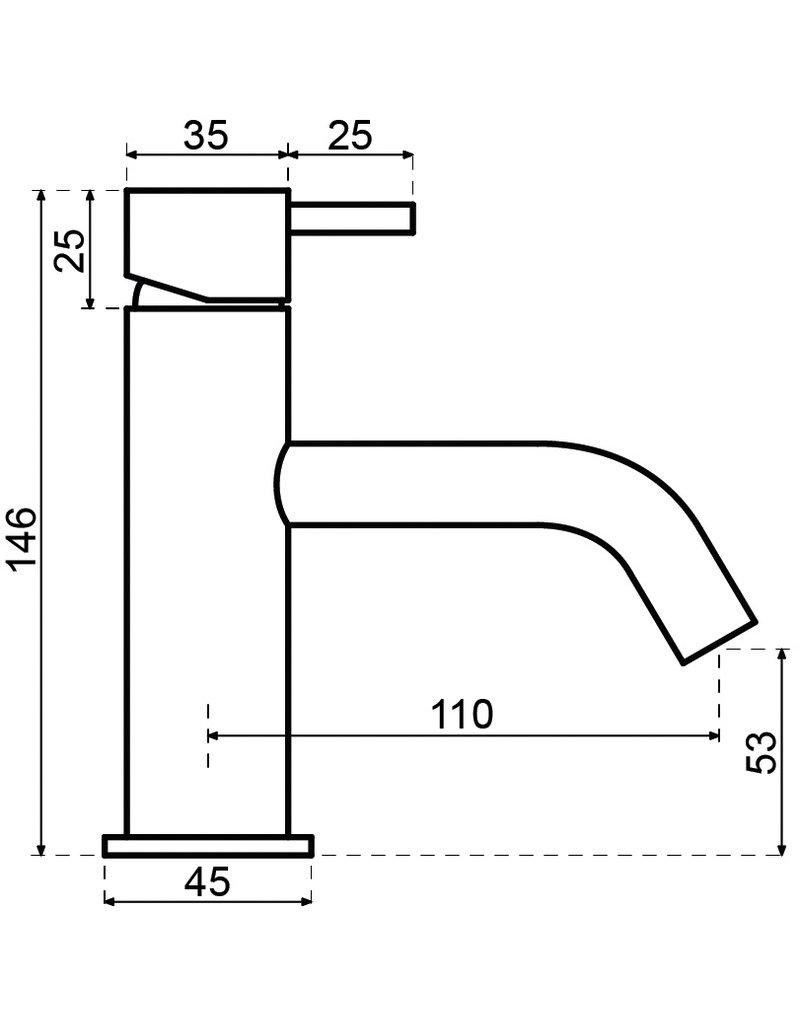 Waterevolution Waterevolution Qisani Flow fonteinkraan Gun Metal Zwart