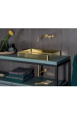 Lanesto Lanesto Qisani Vanity wastafel 52x41x7 Gold / Goud, incl. vaste plug