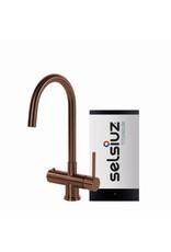Selsiuz Selsiuz Rond Copper / Koper met TITANIUM Single boiler
