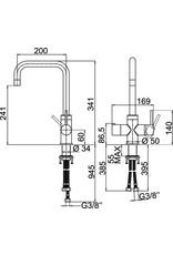 Selsiuz Selsiuz Haaks Chroom met TITANIUM Single boiler