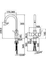 Selsiuz Selsiuz Rond Chroom met TITANIUM Single boiler