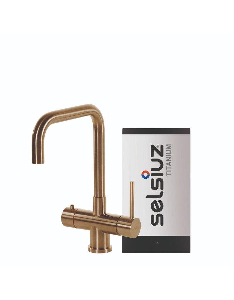 Selsiuz Selsiuz Haaks Gold / Goud met TITANIUM Single boiler