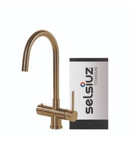 Selsiuz Selsiuz Rond Gold / Goud met TITANIUM Single boiler