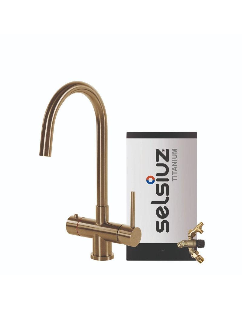 Selsiuz Selsiuz Rond Gold / Goud met TITANIUM Combi (Extra) boiler