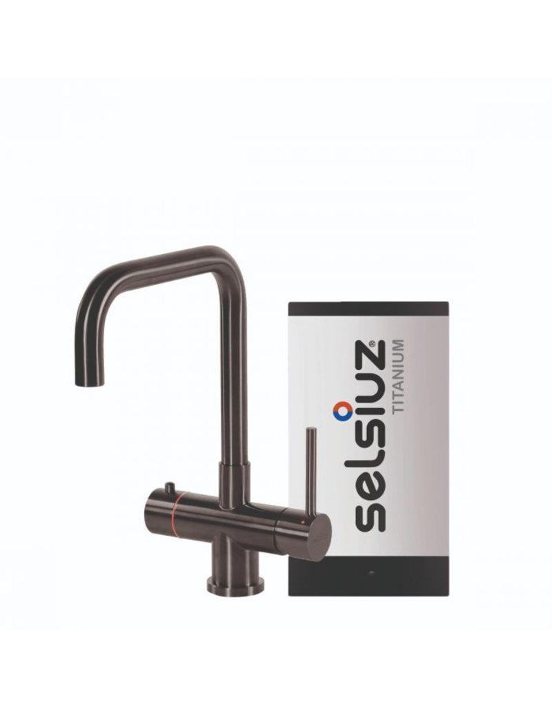 Selsiuz Selsiuz Haaks Gun Metal Zwart met TITANIUM Single boiler