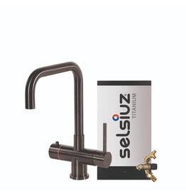 Selsiuz Selsiuz Haaks Gun Metal Zwart met TITANIUM Combi Extra (Combi+) boiler