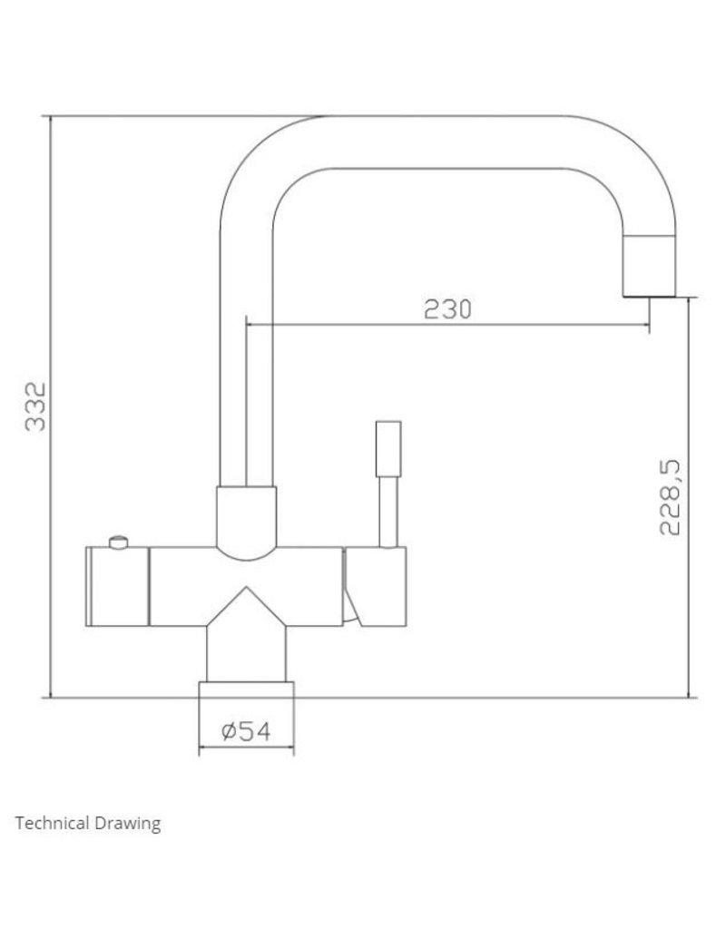 Selsiuz Selsiuz Haaks Gun Metal Zwart met TITANIUM Combi (Extra) boiler