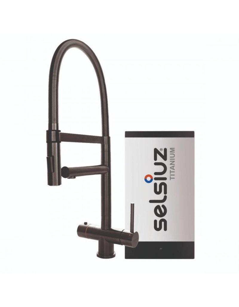 Selsiuz Selsiuz XL Gun Metal Zwart met TITANIUM Single boiler